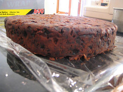 fruit cake side view