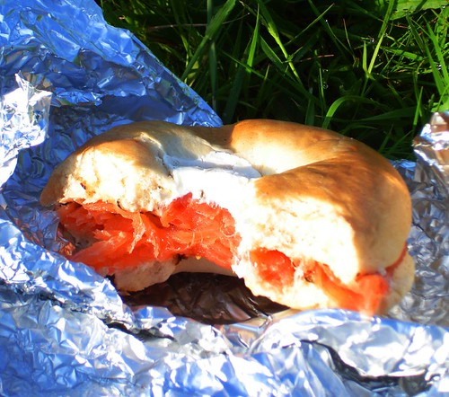 Breakfast Smoked Salmon Bagel with Cream Cheese
