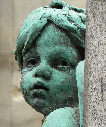 Cherub with cobwebs