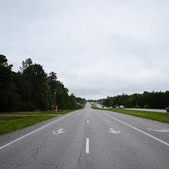 The Road Ahead. Day 47. Rt.17 in Hampstead, NC. Cloudy skies and a great meditation this morning makes for promising walking. #TheWorldWalk #nc #travel #wwtheroadahead