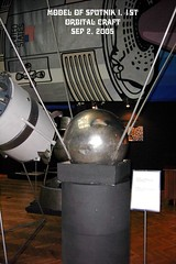 Scale model of Sputnik 1, from the Muzeum Tekniki, Warsaw, Poland