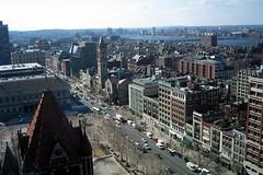 Boston - Back Bay: Boylston Street (Aerial)