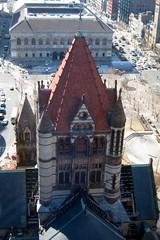 Boston - Back Bay: Trinity Church (aerial)