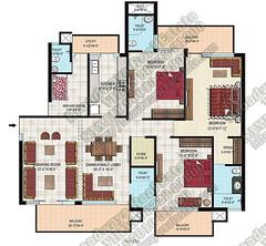 gillco-park-hills-mohali-4bhk-floor-plan-type-1