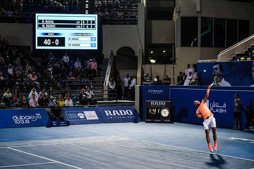 """Rafael Nadal's Match Point against Milos Raonic • <a style=""""font-size:0.8em;"""" href=""""http://www.flickr.com/photos/125636673@N08/31873130221/"""" target=""""_blank"""">View on Flickr</a>"""