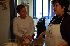 At a cooking class in Tuscany