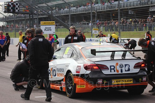 Jason Plato's grid place during the 2015 BTCC weekend at Rockingham, September 2015