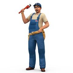 Les Sims 4 reparateur render