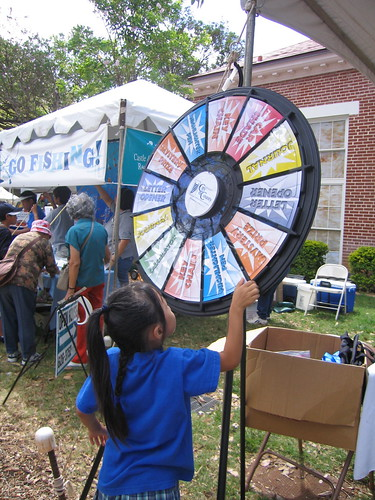 Danielle Spinning Prize Wheel