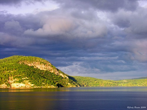 Sun and Clouds Over Lake George in the Adirondacks