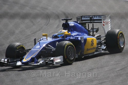 Marcus Ericsson's Sauber during the 2015 Belgium Grand Prix
