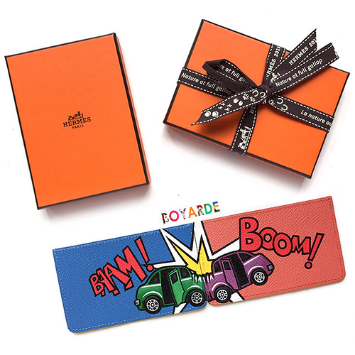 Hermes cardholders car crash copy