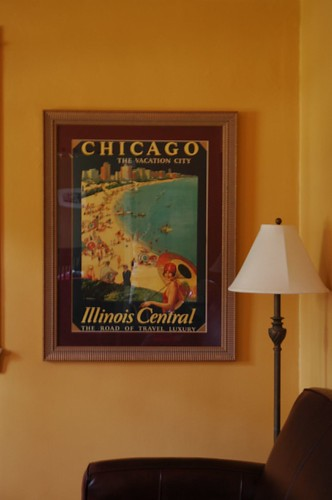 I matted and framed my cool Chicago poster! Yeah!