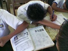 Students sleeping
