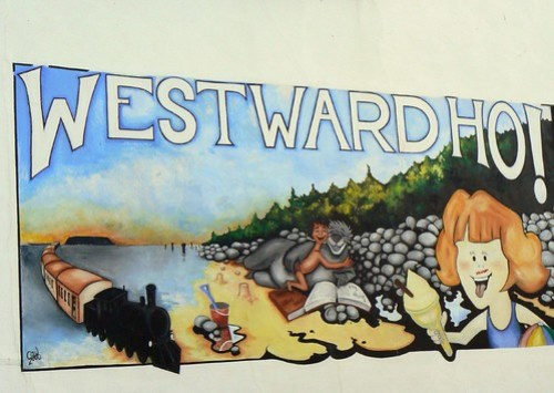 A photo of a mural in Westward Ho!
