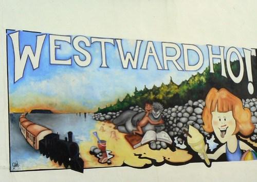 A photo of a mural in Westward Ho!