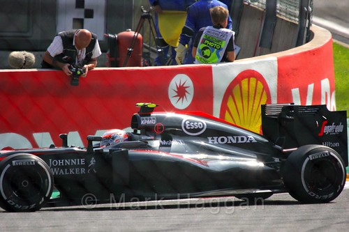 Jenson Button in the 2015 Belgium Grand Prix