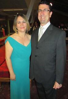 Lúcio Reis e esposa
