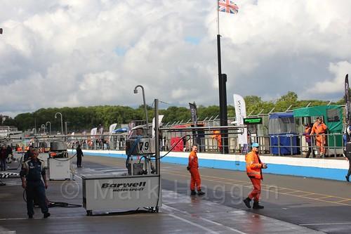 The Formula Jedi pitlane at Donington, September 2015