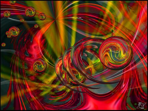 Misty cherry swirl by krandolph.