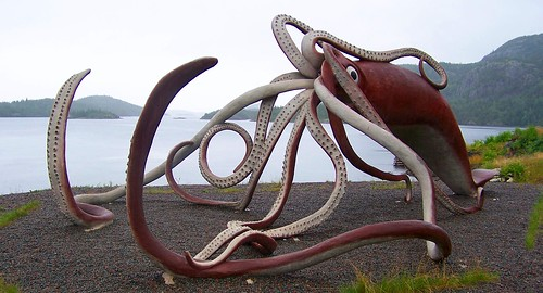 Giant Squid Sculpture, photo by Product of Newfoundland
