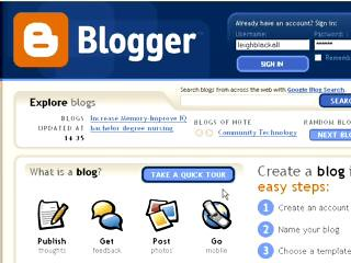 blogger start