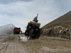 Massive ruts coming down from Shenli Daban Pas...