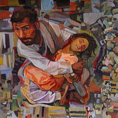 La pietà, tecnica mista su tela, 30×30, 2012