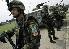 EUFOR CONGO Spanish troops