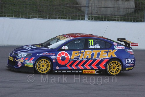 Andrew Jordan in BTCC action at Rockingham 2015