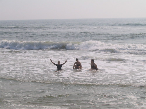 C, Suz and me in the waves