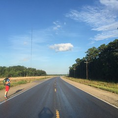 The Road Ahead. Day 123. Rt. 90 in Devers, TX. Got @fitzmaro as a walking buddy into Houston, sure the miles will go much easier. #theworldwalk #travel #wwtheroadahead