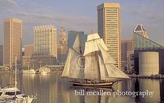schooner pride of baltimore 2 sails into balti...