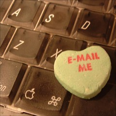 E-mail me candy on a keyboard