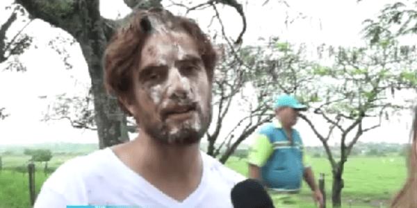 Aos 30 anos, Rafael Cardoso ganha festa surpresa e leva torta na cara