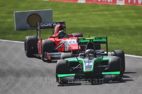 Richie Stanaway in the GP2 Sprint Race at the 2015 Belgium Grand Prix