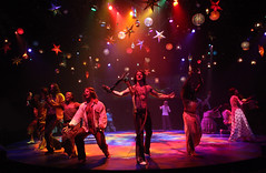 The company of HAIR, produced by Music Circus at the Wells Fargo Pavilion August 18-23, 2015. Photo by Charr Crail.