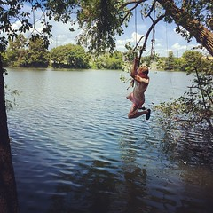 With family rope swinging in Austin! #theworldwalk #austin #travel #twwphotos