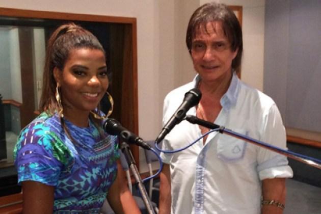 Ludmilla e Roberto Carlos ensaiam juntos para especial de fim de ano