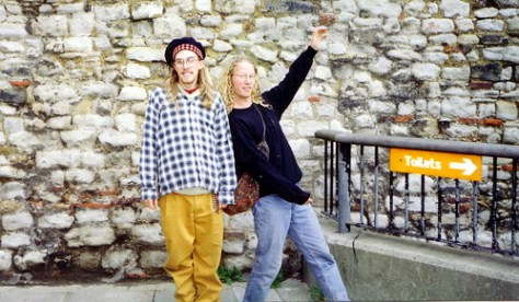 The only evidence of Dave and Trauben as youthful lads in London, circa 1992