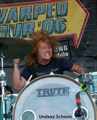 Aaron of Underoath at Warped Tour 2006
