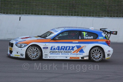 Sam Tordoff on the BTCC grid at Rockingham 2015