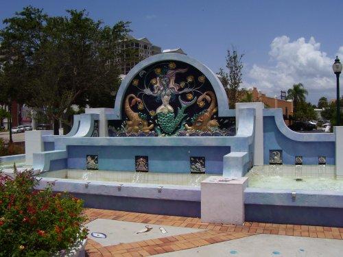 Good Heart Place fountain