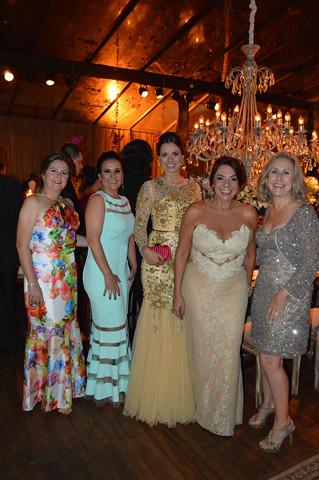 Ana Maria Bonfim Torquetti, Terezina Coelho, Maria Paula Franco Clemente, Valéria Souza e Raquel de Carvalho