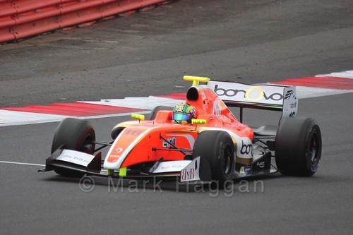 Beitske Visser in the Formula Renault 3.5 Saturday Race at Silverstone