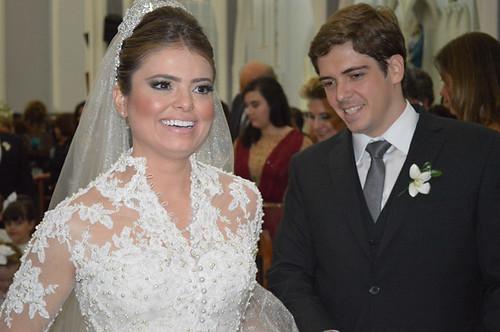 Ana Lúcia e Rafael, já unidos pelos sagrados laços do matrimônio