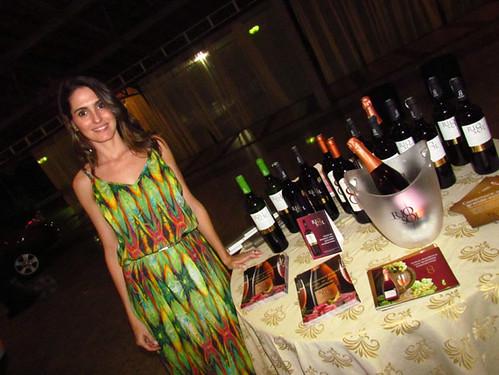 Ludmila Caldeira e os vinhos Rio Sol, que ela representa
