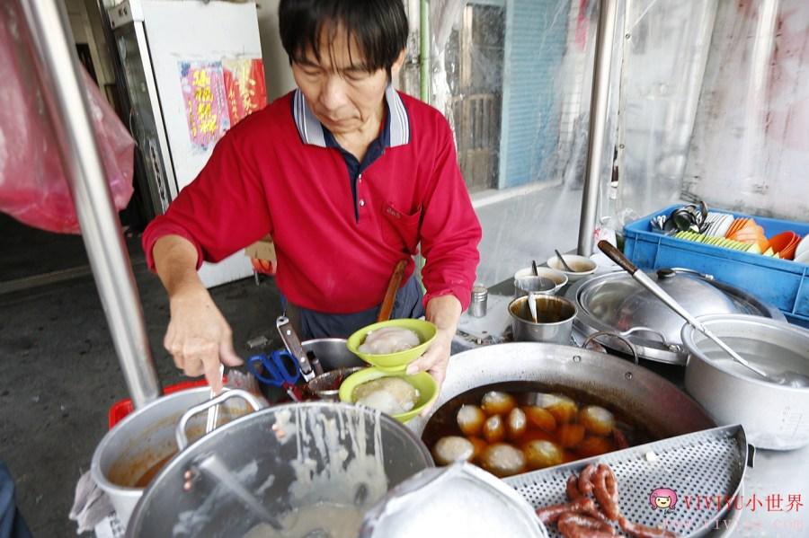 [彰化.美食]口庄肉圓枝.銅板美食~花壇監理站旁.在地人都吃這家.肉圓搭香腸一起吃 @VIVIYU小世界