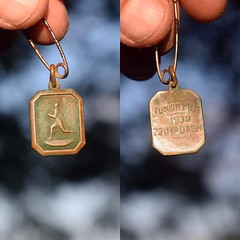 My two hundredth day on the road is for a great friend of mine who passed a few weeks ago. I've been carrying his 1938 200 meter dash medal since I left. Bob Smith lived to 92. He was a star quarterback and track runner. He lived across the street from me