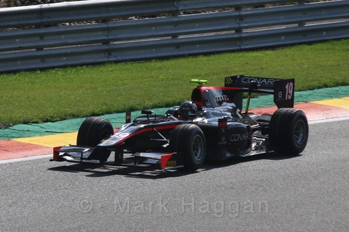 Robert Vișoiu in GP2 qualifying at the 2015 Belgium Grand Prix